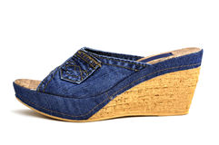 Jeans shoes Stock Photography