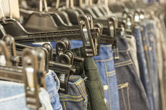 Jeans in shop Stock Photos