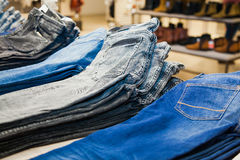 Jeans at shop Stock Photo