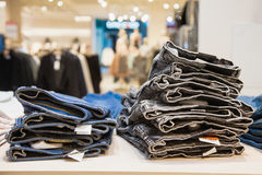 Jeans at shop Stock Photography
