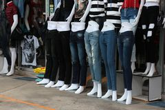 Jeans shop Stock Images