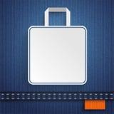 Jeans Shopping Bag Orange Royalty Free Stock Image