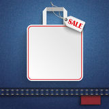 Jeans Shopping Bag Price Sticker Sale Royalty Free Stock Images