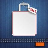 Jeans Shopping Bag Price Sticker Sale Orange Royalty Free Stock Image
