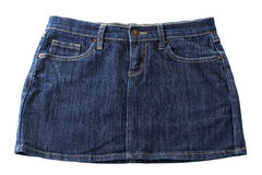 Jeans shorts. Handmade jeans shorts  on white background Stock Photography