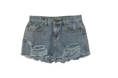 Jeans shorts Royalty Free Stock Images