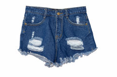 Jeans shorts Royalty Free Stock Image
