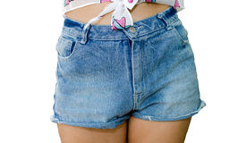 Jeans shorts Stock Images