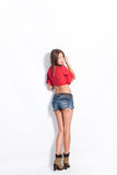 Jeans shorts Stock Photo