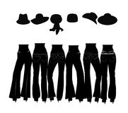 Jeans silhouettes Royalty Free Stock Photography