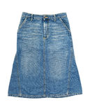 Jeans skirt Royalty Free Stock Photo