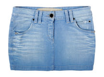 Jeans skirt Royalty Free Stock Photos