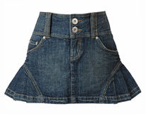 Jeans skirt Royalty Free Stock Photography