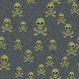 Jeans with skulls Stock Images