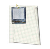 Jeans slide and notebook sheet isolated Stock Photos