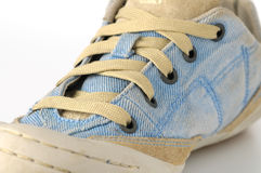 Jeans sneakers Royalty Free Stock Images