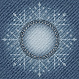Jeans snowflake Royalty Free Stock Photos