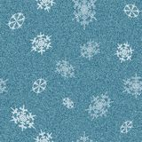Jeans with snowflakes Royalty Free Stock Images