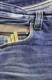 Jeans with snuff Royalty Free Stock Image