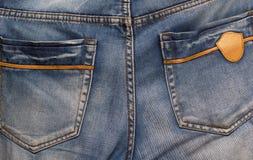 Jeans som en bakgrund Royaltyfri Fotografi