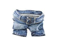 Jeans som isoleras på vit bakgrund Royaltyfri Foto