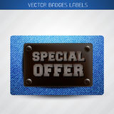 Jeans special offer label Stock Photography