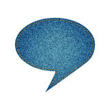 Jeans speech bubble Royalty Free Stock Photography