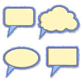 Jeans speech bubbles Stock Image