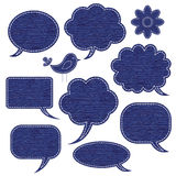 Jeans speech bubbles collection Stock Images
