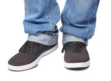 Jeans & sport shoes Royalty Free Stock Images