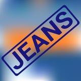 Jeans stämplar sporttypografi, t-skjortan diagram, vektor royaltyfri illustrationer