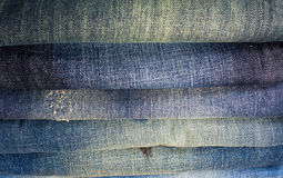 Jeans stack Stock Image