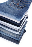 Jeans stack Stock Photo