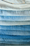 Jeans stack Stock Photography