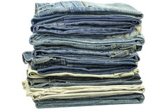 Jeans stacked together Stock Image