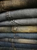 Jeans stack royalty free stock images
