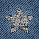 Jeans star with spangles Stock Photos