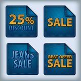 Jeans stickers sale Royalty Free Stock Photography