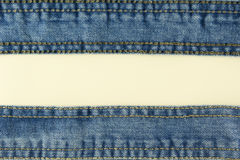 Jeans with stitch background Stock Images