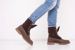 Jeans & stivali Fotografia Stock