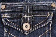 Jeans stoppa i fickan Royaltyfria Foton