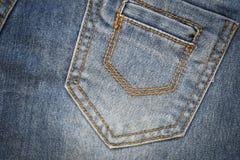 Jeans stoppa i fickan Royaltyfri Fotografi