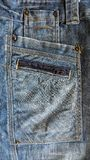 Jeans stoppa i fickan med sömmen och kuggen och drevet vektor illustrationer