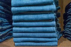 Jeans store background Royalty Free Stock Photography