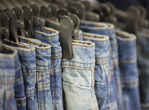 Jeans in the store Royalty Free Stock Images