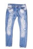 Jeans strappati del ragazzo immagine stock