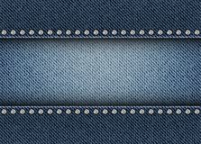 Jeans stripe with spangles Royalty Free Stock Photography
