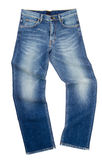 Jeans, stylish jeans on blackground Royalty Free Stock Photos