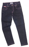 Jeans, stylish jeans on blackground Royalty Free Stock Photo