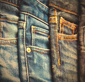 Jeans sur l'affichage Photographie stock